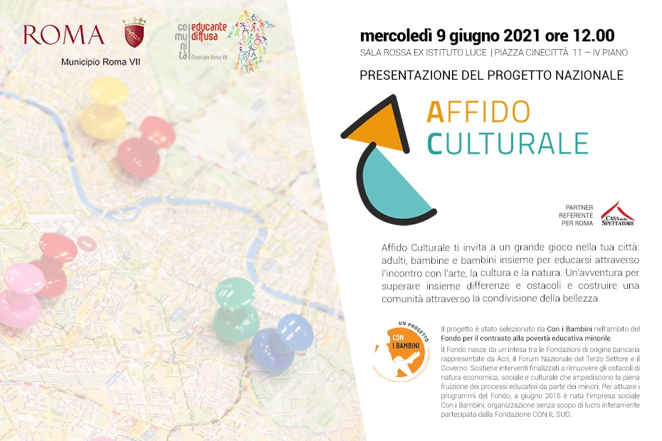 You are currently viewing 09_06_21 Anche a Roma parte l'Affido Culturale